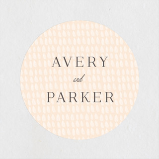 Wild and Free Wedding Favor Stickers