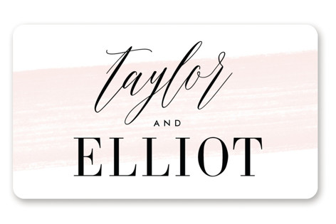 Effervescent Wedding Favor Stickers