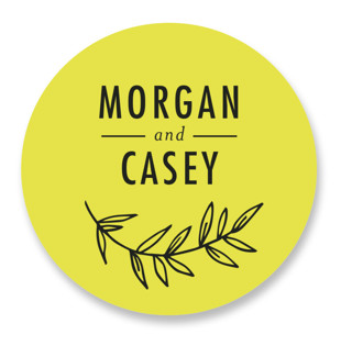 minimally chic Wedding Favor Stickers
