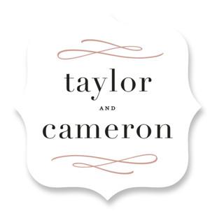Sophisticate Wedding Favor Stickers