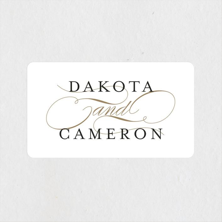 """""""Classic Union"""" - Wedding Favor Stickers in Tuxedo by Lehan Veenker."""