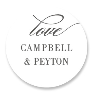 Fleck Wedding Favor Stickers