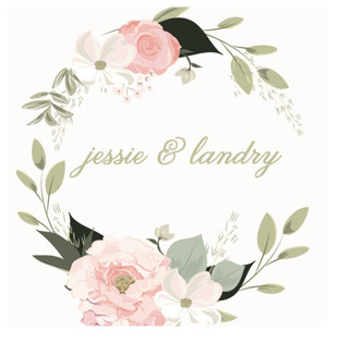 Petal Surround Wedding Favor Stickers