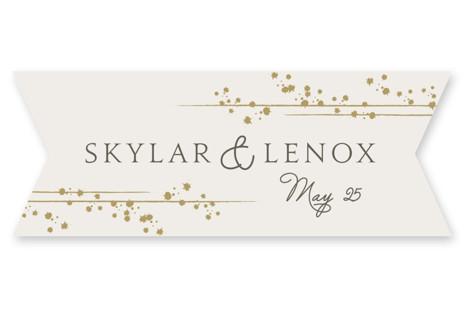 Tiara Wedding Favor Stickers