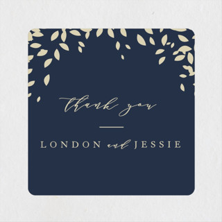 Cascading Corners Wedding Favor Stickers