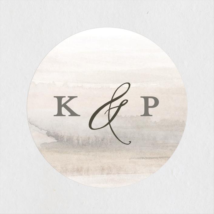 """OCEANS"" - Bohemian Wedding Favor Stickers in Ocean by Wildfield Paper Co.."