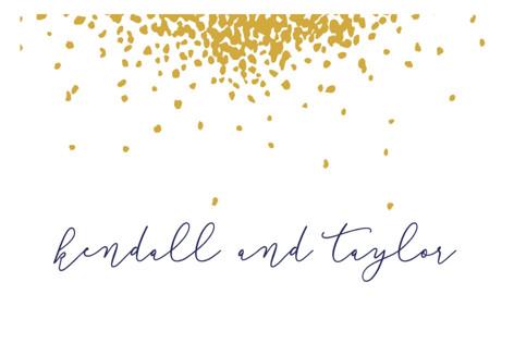 Confetti Wedding Favor Stickers