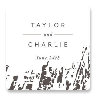 Timber Wedding Favor Stickers