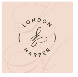 Twirl Monogram B Wedding Favor Stickers