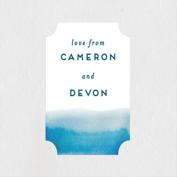 """Tide Pools"" - Modern Wedding Favor Stickers in Sea by Krissy Bengtson."