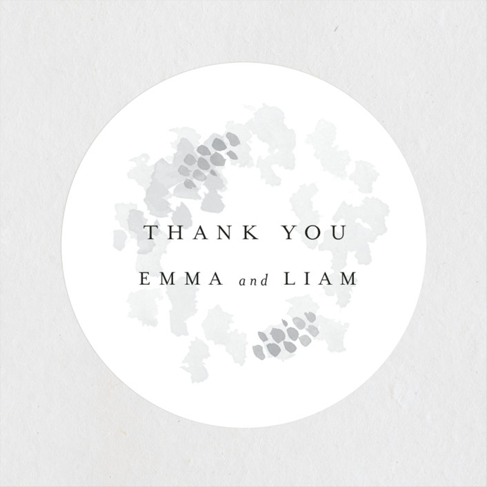 """""""A Thousand Years"""" - Wedding Favor Stickers in Classic White by Design Lotus."""