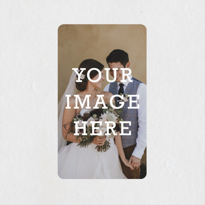 """""""The Big Picture"""" - Wedding Favor Stickers in Ivory by Minted."""