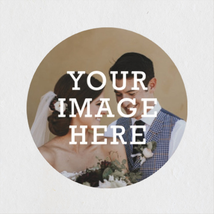 """The Big Picture"" - Wedding Favor Stickers in Ivory by Minted."