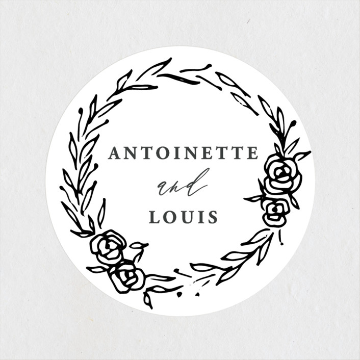 """""""Antoinette"""" - Wedding Favor Stickers in Ivory by lulu and isabelle."""