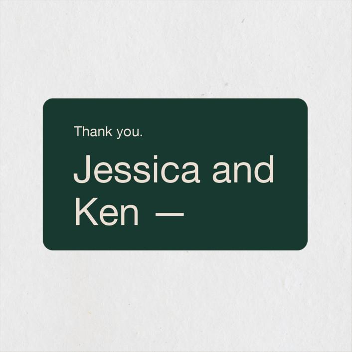 """Proposal"" - Wedding Favor Stickers in Buff by Jack Knoebber."