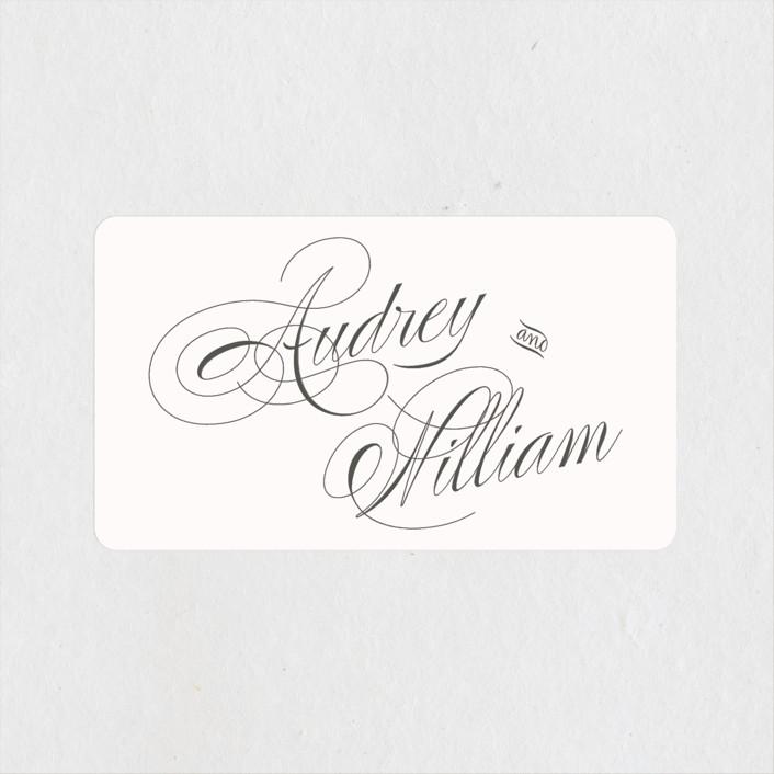 """""""Flora"""" - Wedding Favor Stickers in Blush by Nicoletta Savod."""