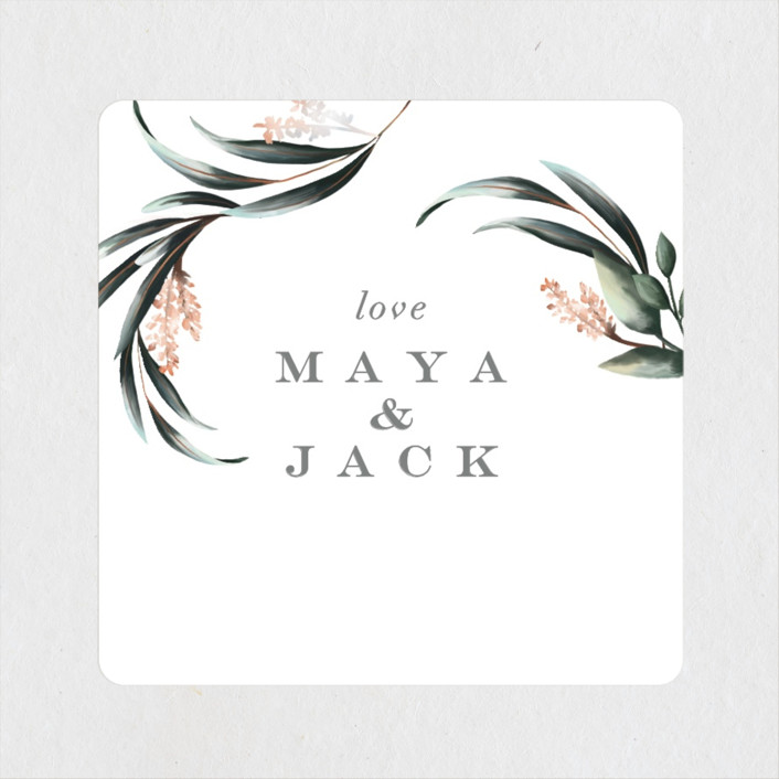 """Maya Rustica"" - Wedding Favor Stickers in Rose by Petra Kern."