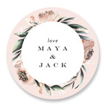 This is a orange wedding favor label by Petra Kern called Rustica with standard printing on uncoated sticker paper in sticker.