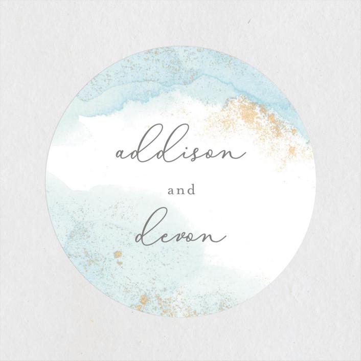 """""""My tenderness"""" - Modern Wedding Favor Stickers in Topaz by Helen Halik."""