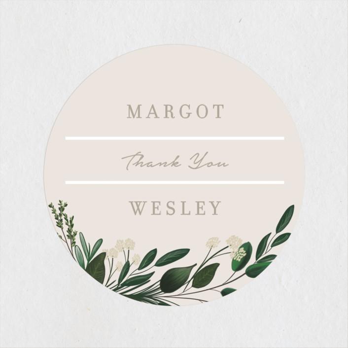 """Watermark"" - Wedding Favor Stickers in Cypress by Kaydi Bishop."