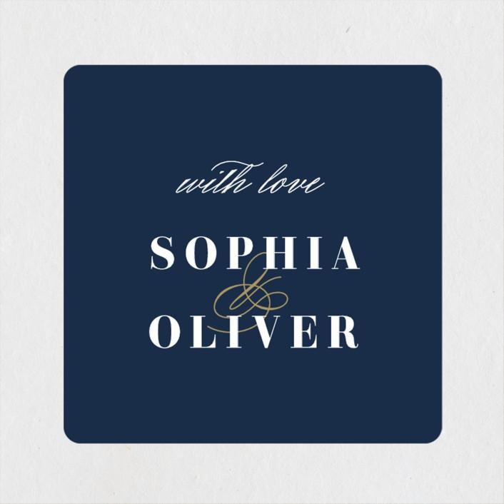 """Bold Love"" - Wedding Favor Stickers in Antique by Brandy Folse."
