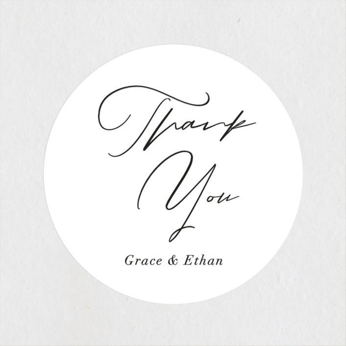 """first dance"" - Wedding Favor Stickers in Champagne by Kasia Labocki."