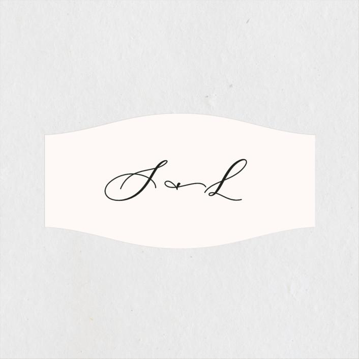 """""""Eternal"""" - Wedding Favor Stickers in Ecru by carly reed walker."""
