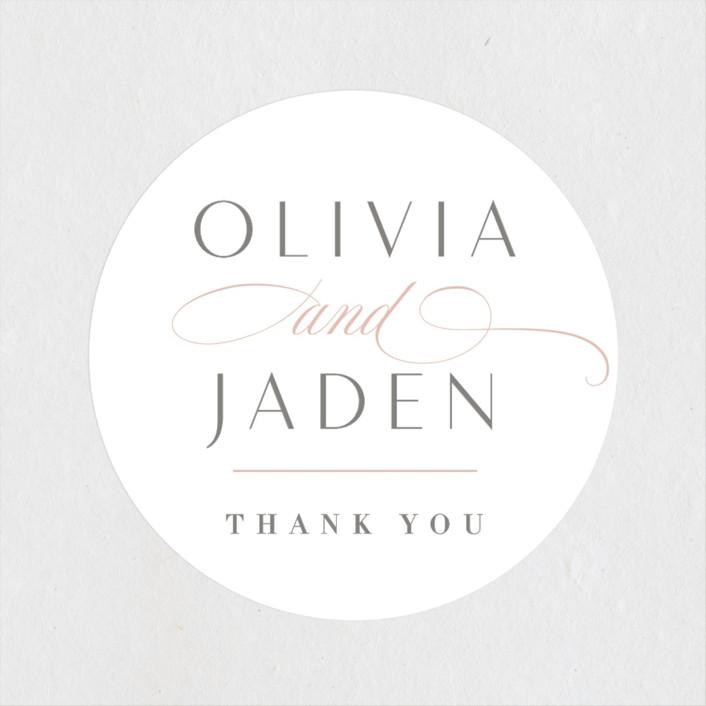 """""""Gramercy"""" - Wedding Favor Stickers in Blush by Kristie Kern."""