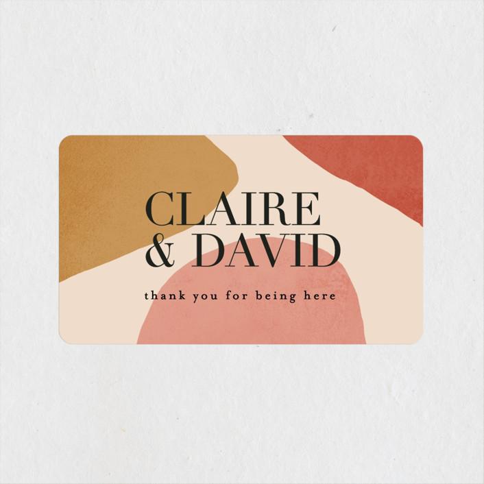 """""""Galeria"""" - Modern Wedding Favor Stickers in Autumn Desert by Kelly Schmidt."""