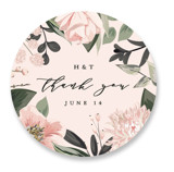 This is a green wedding favor label by Susan Moyal called Ivory Ring with standard printing on uncoated sticker paper in sticker.