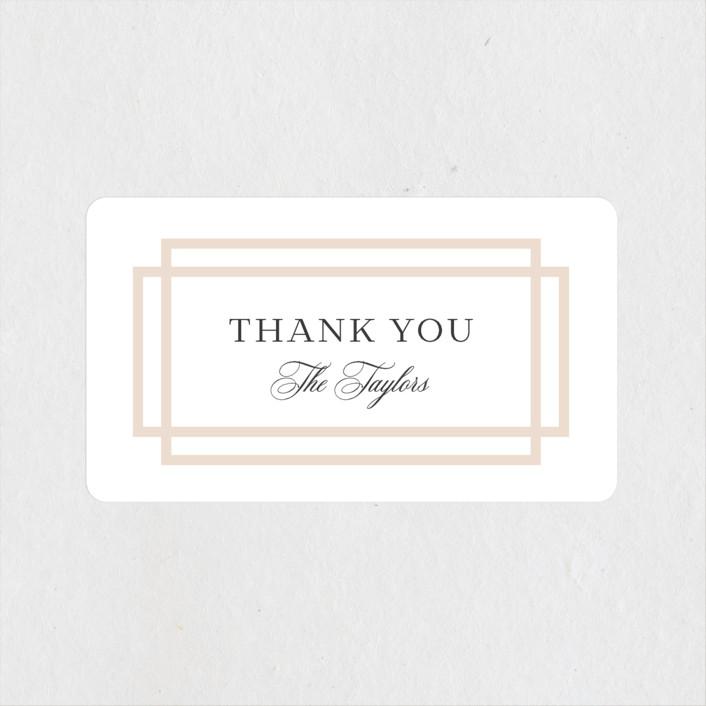 """Timeless Love"" - Wedding Favor Stickers in Blush by Carolyn MacLaren."