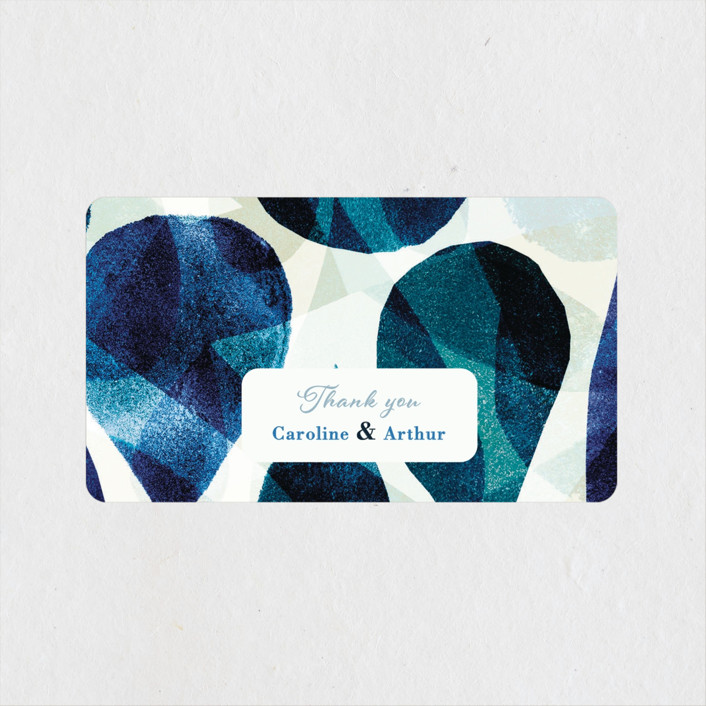 """""""Drops"""" - Wedding Favor Stickers in Sea by Bethania Lima."""