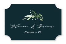 This is a green wedding favor label by Jennifer Postorino called Fresh Greenery with standard printing on uncoated sticker paper in sticker.