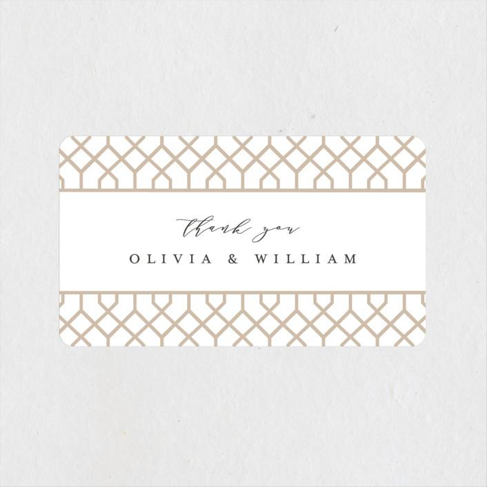 """trellis"" - Wedding Favor Stickers in Flaxen by Melanie Kosuge."
