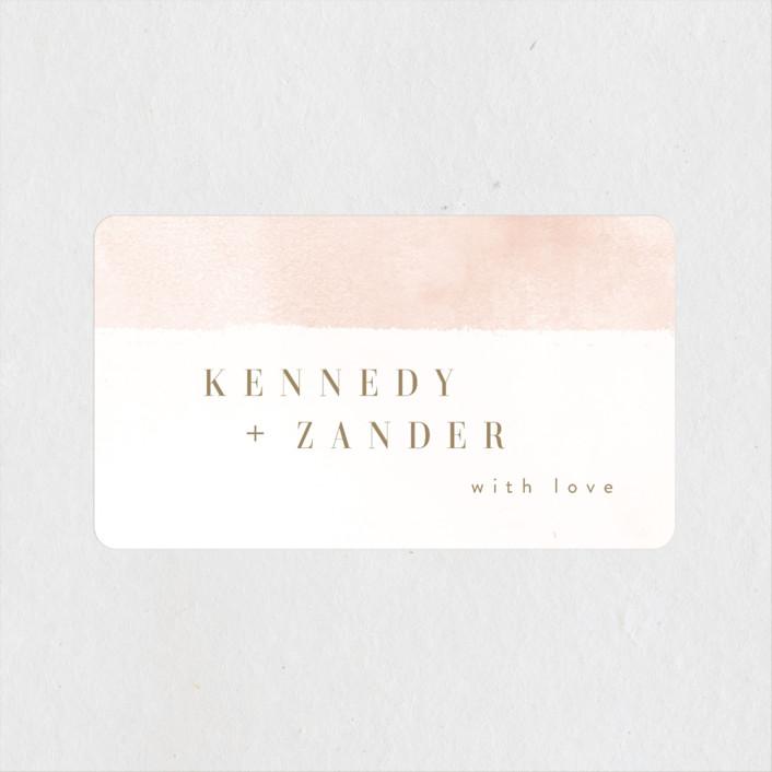 """""""Zara"""" - Wedding Favor Stickers in Blush by Kristie Kern."""