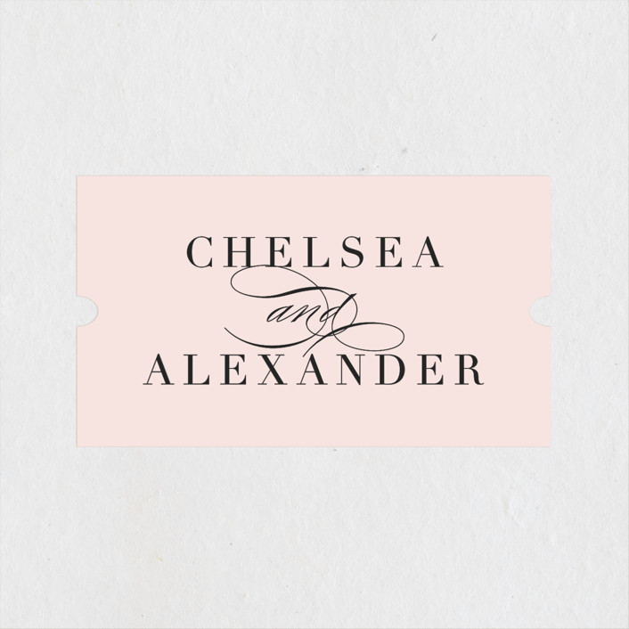"""Enchanted Evening"" - Wedding Favor Stickers in Blush by Ashley DeMeyere."