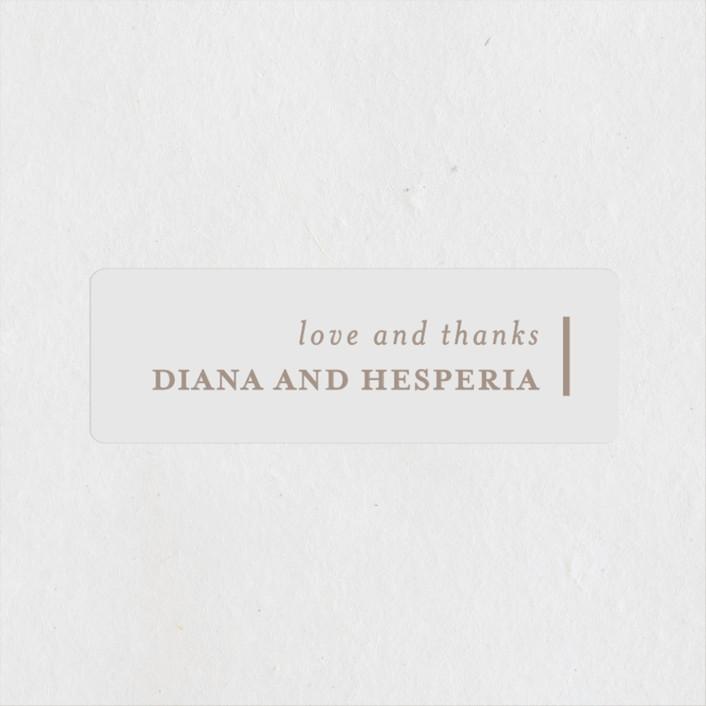 """""""Lydra"""" - Modern Wedding Favor Stickers in Magnolia by elena diaz."""