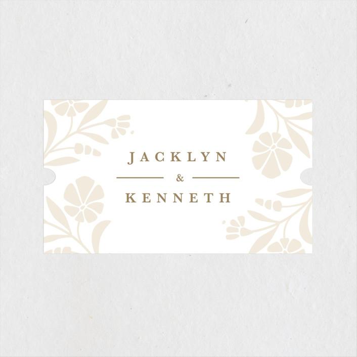 """""""Jasmine"""" - Wedding Favor Stickers in Golden Hour by Kristen Smith."""