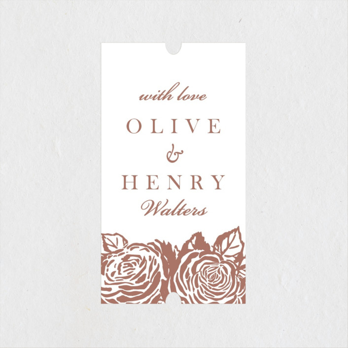 """""""House of York"""" - Wedding Favor Stickers in Rosewood by Christie Kelly."""