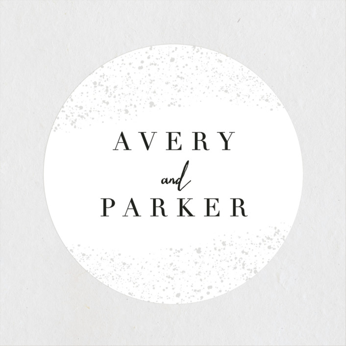 """glistening stardust"" - Wedding Favor Stickers in Cloud by Angela Marzuki."