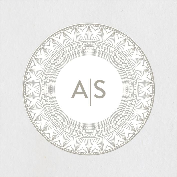 """mandala"" - Wedding Favor Stickers in Porcelain by Char-Lynn Griffiths."