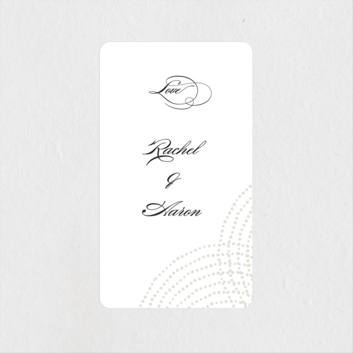 """Bespeckle"" - Wedding Favor Stickers in Pearl by Benita Crandall."