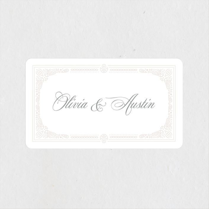 """Adorn"" - Wedding Favor Stickers in Shimmer by Kristen Smith."