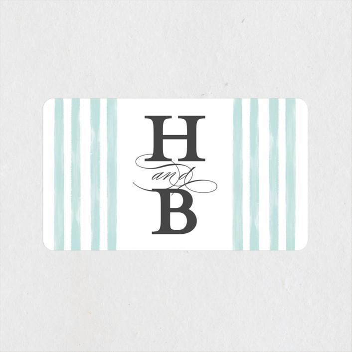 """""""Gala"""" - Wedding Favor Stickers in Opal by Ashley DeMeyere."""