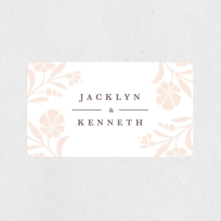 """""""Jasmine"""" - Wedding Favor Stickers in Shimmer by Kristen Smith."""