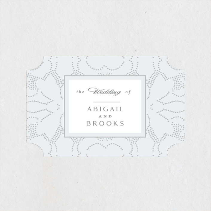"""Nicolette"" - Wedding Favor Stickers in Frost by Susan Zinader."