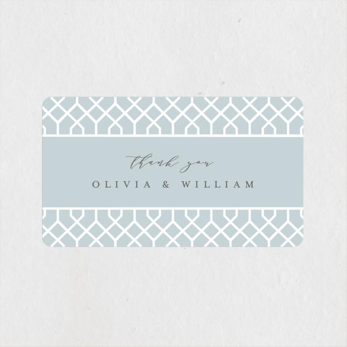 """""""trellis"""" - Wedding Favor Stickers in Opal by Melanie Kosuge."""
