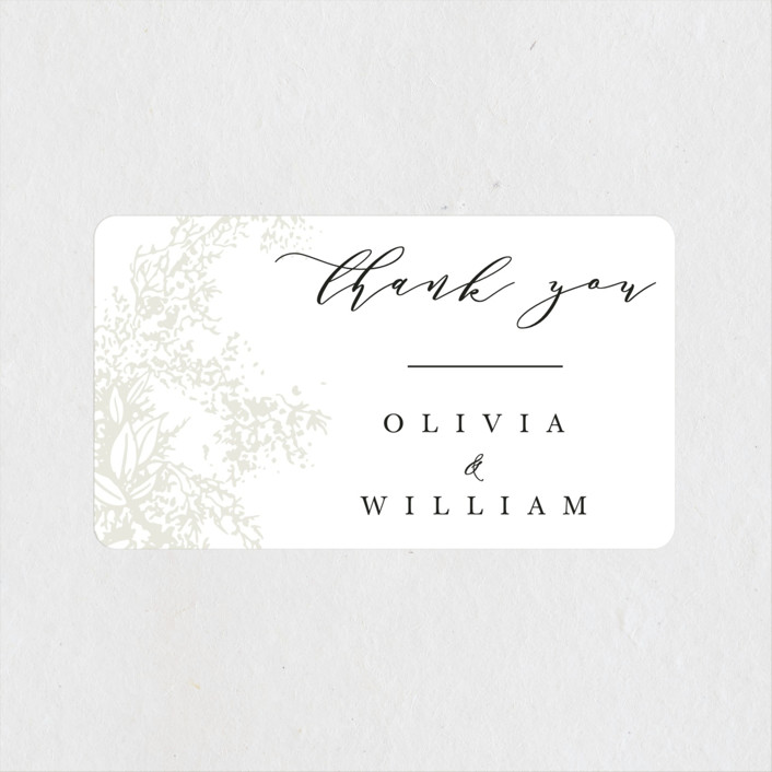 """""""Olivia"""" - Wedding Favor Stickers in Taupe by Hannah Williams."""