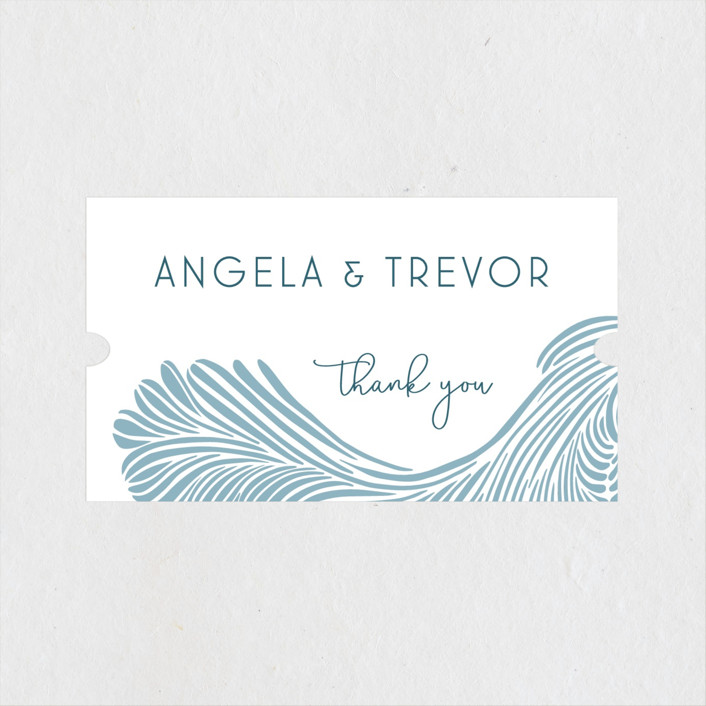 """""""Wailea Waves"""" - Wedding Favor Stickers in Pacific Blue by raven erebus."""
