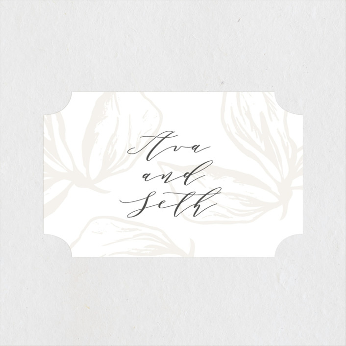 """Forevermore"" - Wedding Favor Stickers in Ivory by Melinda Denison."